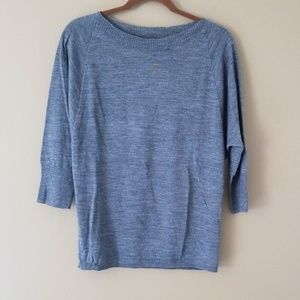 THE LIMITED Lightweight 3/4 Sleeve Gray Sweater